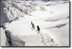 Ascending Nun Kun Ice Plateau