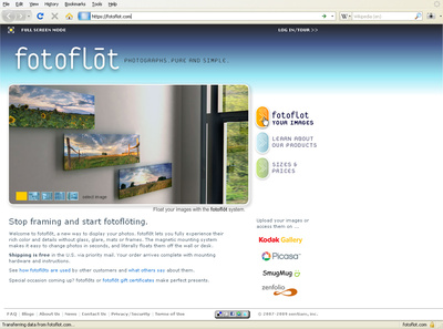 fotoflot.com start screen
