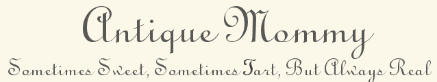Antique Mommy blog title
